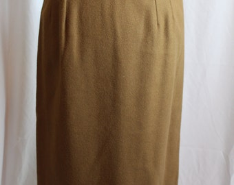 Vintage 1980s camel wool skirt