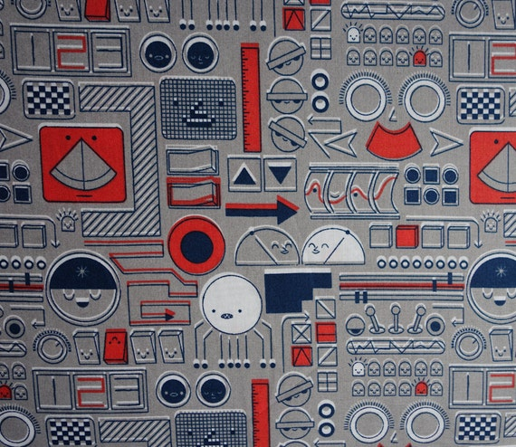 Mission control gray cosmic convoy mich le brummer for Space mission fabric