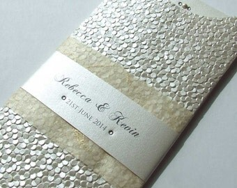 Textured Wallet Wedding Invitation