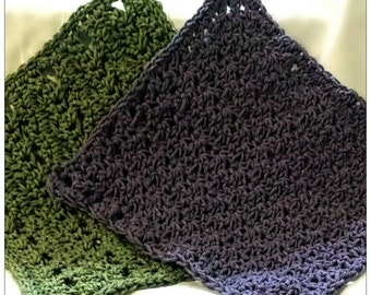 Handmade crochet decorative washcloths dishcloths