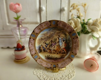 Royal Vienna  Plate for Dollhouse