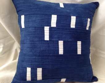 Hand-Dyed Quilted Pillow Cover