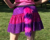Cheshire Cat skirt with fluffy tail- children's