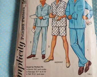 Simplicity 4077, Men's Pj Pattern