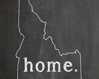 "Idaho HOME STATE PRIDE 2"" x 3"" Fridge Magnet Chalkboard Chalk Country Decor"