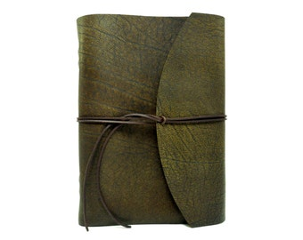 Leather book  - Buffallo Crust Raw - A4 - 400 pages - diary of Vicky's World