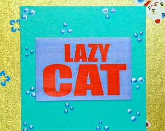 Lazy Cat~ Post It Note Holders