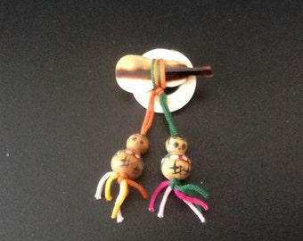 1960's kokeshi doll brooch pin
