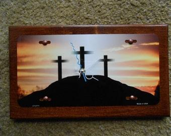Cross on the Mount...Quartz Wall Clock... ( Sale )