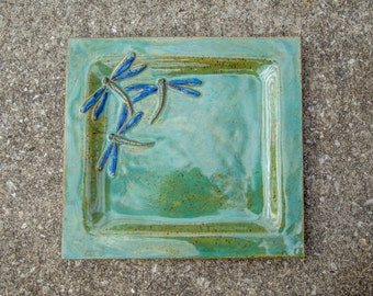 Dragonfly Plate Stoneware