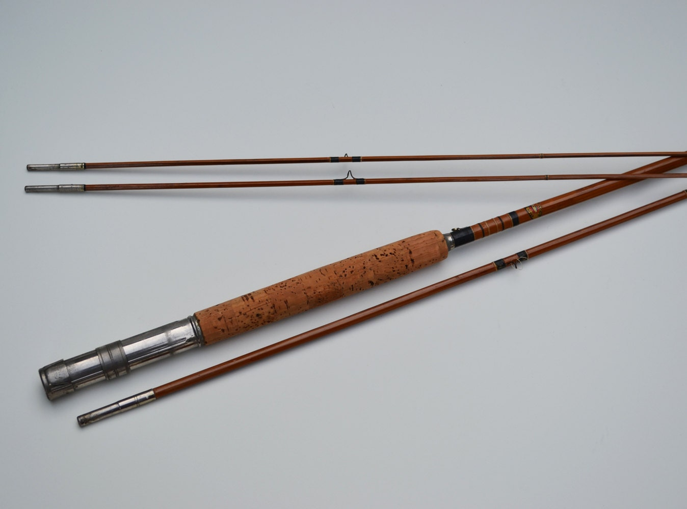 Vintage montague eagle river 9 foot bamboo fly by for Montague fishing rod