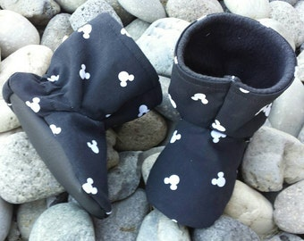 Baby Boots Toddler Shoes Winter Uggs Slippers Disney Mickey Minnie Mouse Shower Gift
