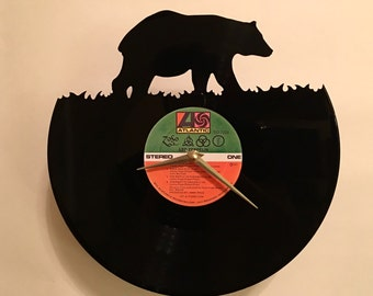 A Bear Vinyl Record Wall Clock