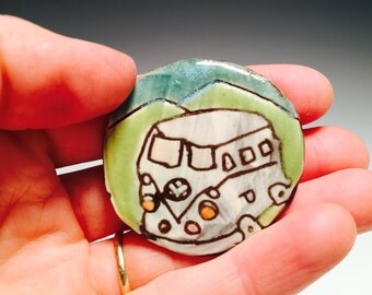 Road trip VW Bus magnet :)