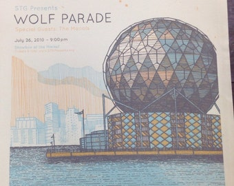 Limited Edition Silkscreen Wolf Parade Seattle Show Poster