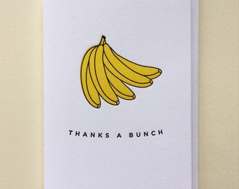 Letterpress Thank You Card : Thanks A Bunch Six Pack