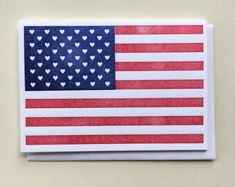 American Love - Single Letterpress Card