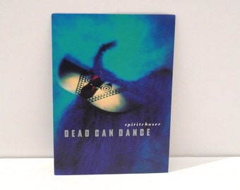 Dead Can Dance Tour Dates Card 1996 Vintage Spiritchaser Advertising Postcard 1990s 4AD Dark Wave Goth Post Punk Music Record Store Ad