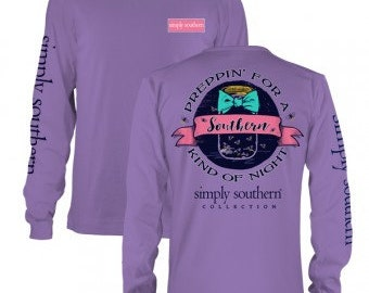 "Simply Southern ""Preppin' Fire Fly"" Long Sleeve T-Shirt"