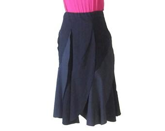 VINTAGE SWING SKIRT, Pleated Flared skirt, full swing skirt, pleated circle skirt, 50's full skirt, vintage clothes, EuropeanRetroFashion