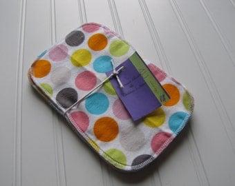 Girl's Wash Cloths - Baby Wash Cloths - Flannel Gift Set - Wash Cloths - Made 4U Handmade Designs