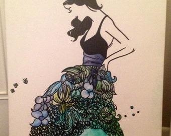 Girl with Flower Skirt