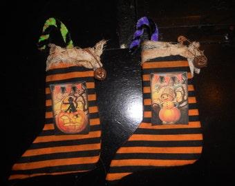 Halloween mini stockings,prim halloween