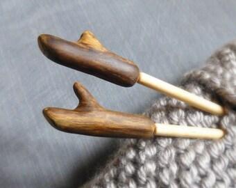 Wood Gift Idea, Driftwood Knitting Needles, USA sz 11/ UK sz 0, 8mm Wooden Needles, Hand Turned Straight Needles, Gift for Grandma/ Knitter