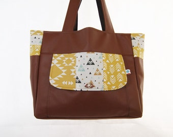 Tote bag oversize trend Lady Hazel synthetic leather