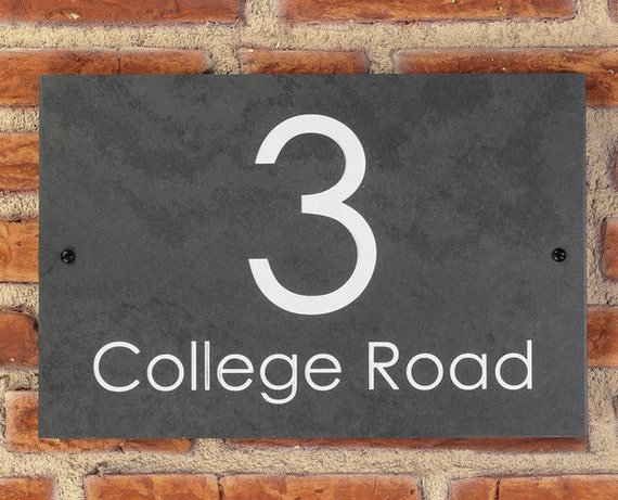 House Number Plaques Slate: Personalised Slate / House Sign / Plaque / Door / Number