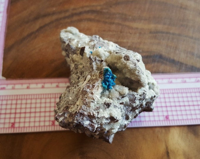 Cavansite on Stilbite with Heulandite ~ 1 Reiki infused crystal specimen approx 3.3 x 2.4 x 2.1 inches (Cav03)