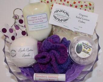 Blackberry Sage Bath & Body Gift Basket