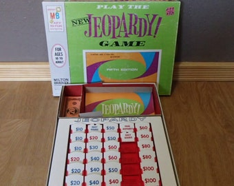 1964 Jeopardy Game Fifth Edition by Milton Bradley