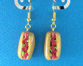 Hot Dog Earrings