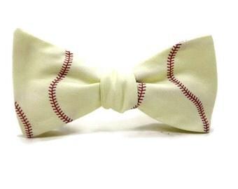 Baseball bowtie, sports bowtie, ball bowtie, game bowtie, baseball, ball game bowtie, baseball accessory, baseball tie