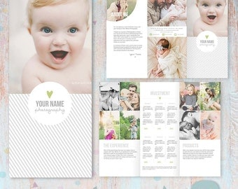 Studio Welcome Flyer - Trifold Brochure -  DL Size Sell Sheet - PG015 - Instant Download
