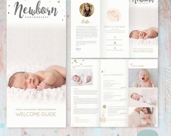 Newborn Trifold Brochure Flyer - Photography Guide -  DL Size Sell Sheet - PG019 - Instant Download