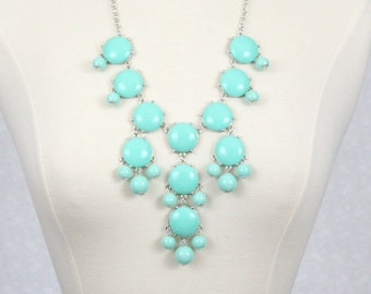Bubble Necklace Mint Green Statement Bib Necklace