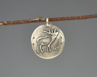 Elk totem-elk talisman-elk charm-spirit animal-power animal-amulet