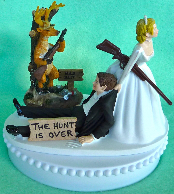 Wedding Cake Topper Deer Hunting Man Bait Themed W Bridal