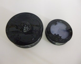 Vintage Anna Sui powder pot + eye shadow in container