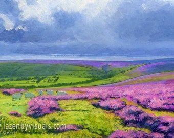Egton High Moor - A beautiful North York Moors countryside painting by James McGairy - Mounted giclee print