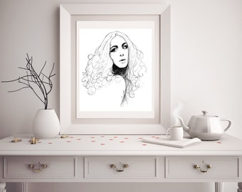 Custom Portrait in PENCIL from Photo, Drawing - Unique Gift Grafitti Art Street Art Holiday Cards Wedding Invitations