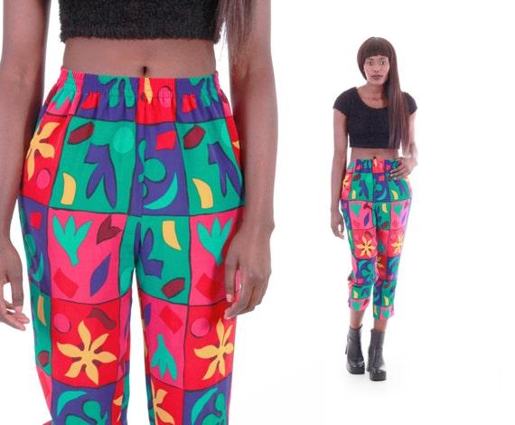 soyeux recadre color 90 s vintage pantalons hip hop hipster swag vtements color block pantalons courts - Color Block Vetement