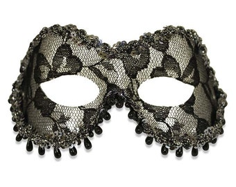 Fashion Raindrop Women's Masquerade Mask - A-0263BL-E