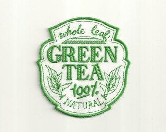 Green Tea Cafe Patch! Custom Made! AP50