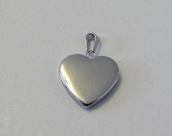 D-02197 - 1 Stainless Steel Heart Pendant