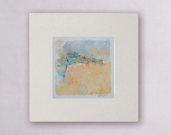 Original abstract painting Abstract # 406,  oil painting on canvas with  frame.