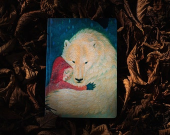 "A5 notebook ""Winter's Embrace"" design"