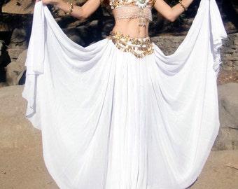Ameynra Fashion Skirt Double Circle Chiffon. Sizes L 2X 3X